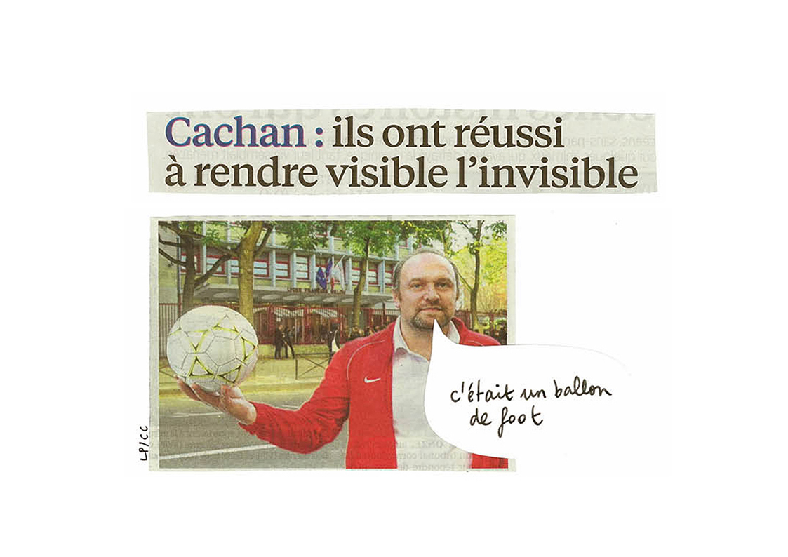 Cachan il a réussi a rendre visible invisible ballon foot
